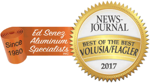 "News-Journal reader's voted Ed Senez Aluminum ""Best of the Best"""